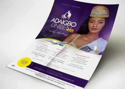 Flyer design for Adaigbo Uniben